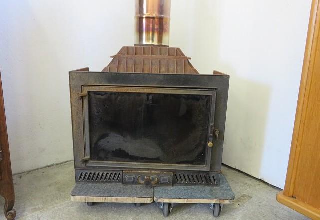 insert pour cheminée en gros plan