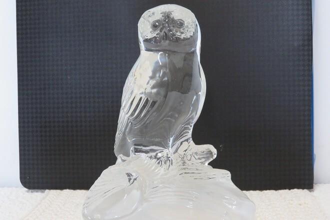 hibou en cristal
