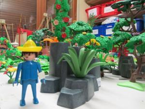 jardinier playmobil et son jardin