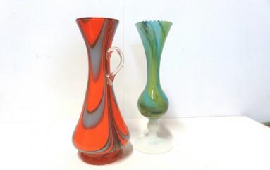 vases affinés colorés